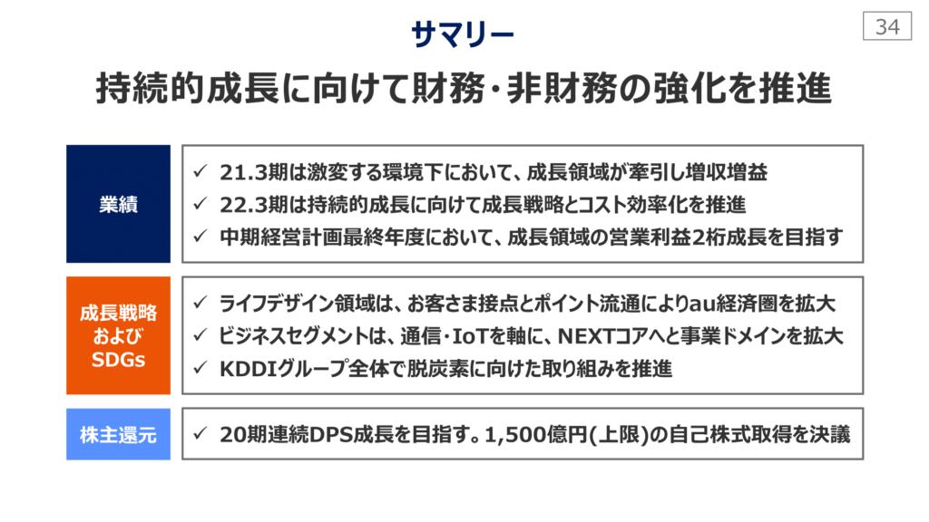 KDDI2021年3月期決算説明会資料